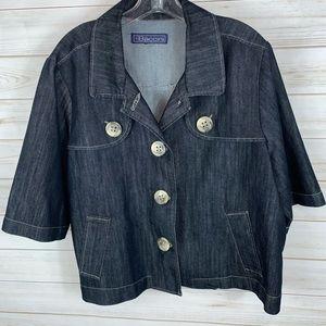 BASSINI~ XL, 3/4 sleeve light coat